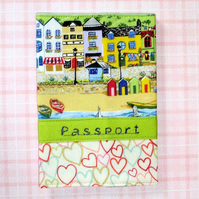 Passport cover  - Beach scene