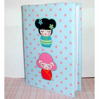 Covered notebook or journal- Japanese Ladies