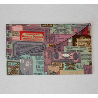 Travel wallet or passport holder ticket fabric