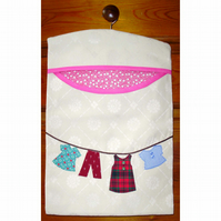 Peg bag with applique washing line SALE PRICE