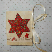 Needle case - Liberty print star