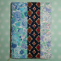 Notebook - Liberty print patchwork A6
