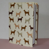 Notebook A6 fabric covered dogs