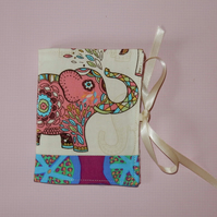 Needlecase - Colourful elephant