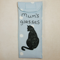 Glasses case - Mum's glasses and black cat