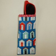 Glasses case - Beach huts, slip in style