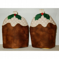 Egg Cosies Christmas puddings pair