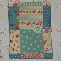 Needle case - Patchwork blue and pink