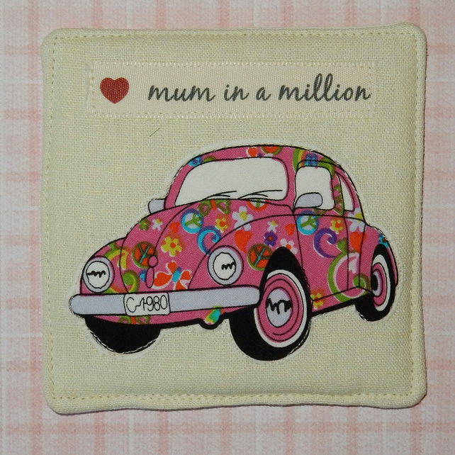 Coaster - Beetle for Mum in a million