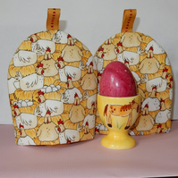 Egg Cosies hens and eggs - pair SALE PRICE