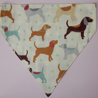 Dog bandana reversible