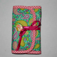 Sewing set or needle case pretty paisley