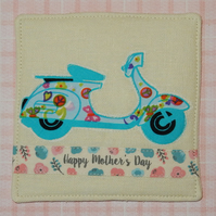 Coaster - Mother's day with retro scooter