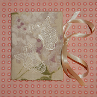 Needle case - with lace butterflies