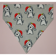 Christmas dog bandana - Santa hats