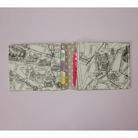 Travel card wallet Paris map