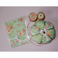 Needlecase and pincushion set