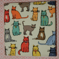 Sketch book Bright coloured cats
