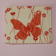 Card wallet applique butterfly