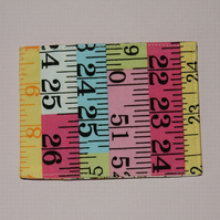 Travel card wallet Tape measure