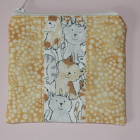 Coin purse cute cats and patchwork