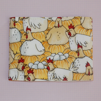 Travel card wallet Chickens