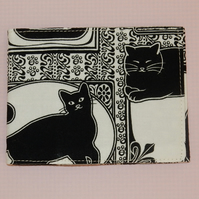 Travel card wallet Black cats