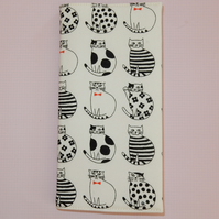 Black and white cats slim line 2020 diary