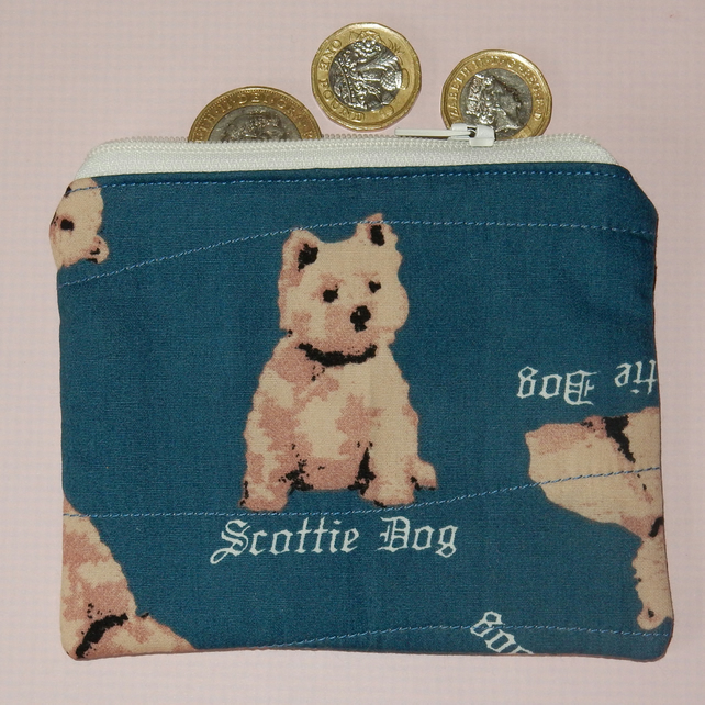 Coin purse Scottie dog