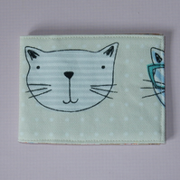 Card wallet cat faces