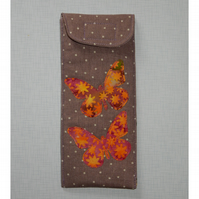 Glasses case - Beautiful butterflies