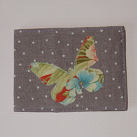 Travel card wallet pretty butterfly