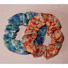 Scrunchies Liberty print pair