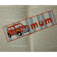 Bookmark Mini car for Mum