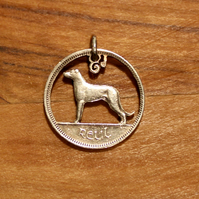 Irish Wolfhound 6d Coin Necklace