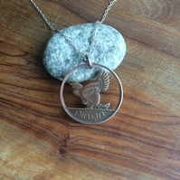Irish Hen & Chicks Coin Pendant