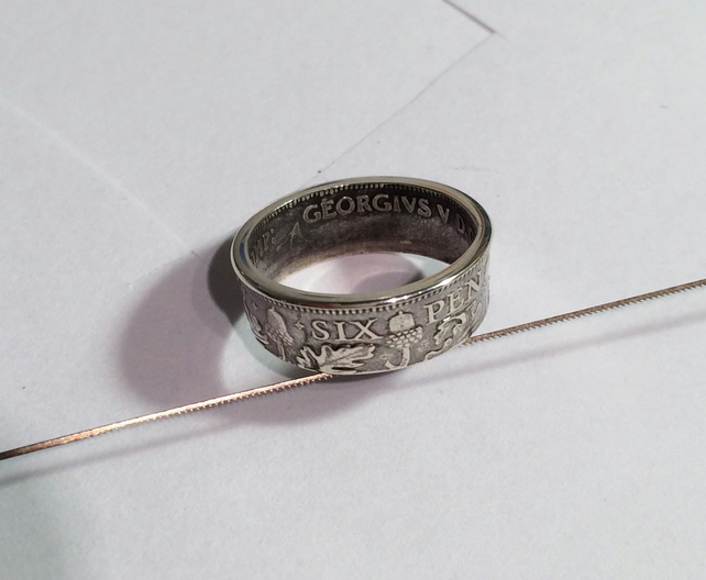 silver sixpence ring folksy