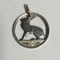 Irish Hare Coin Pendant