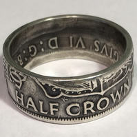 Half Crown Silver Ring