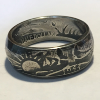 Walking Liberty Half Dollar Coin Ring