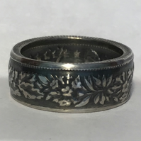 Swiss Silver 1 Franc Coin Ring