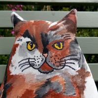 Frans, Hand Painted Fabric Art Cat.