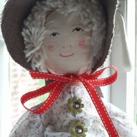 Myrtle, Country Girl Rag Doll ( Mixed Media Character ).