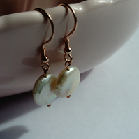 Pearl Coin Earrings