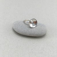 Silver Statement Dome Ring