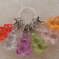 Stitch Markers Crochet Teddies Teddy Bear Set of 6
