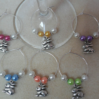 Easter Wine Glass Charms Set of 6