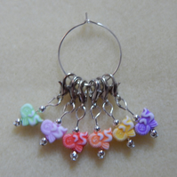 Crochet Stitch Markers Angels Set of 6