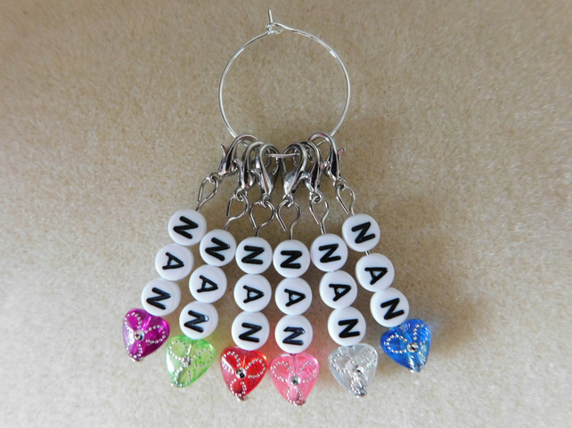 Crochet Stitch Markers NAN set of 6