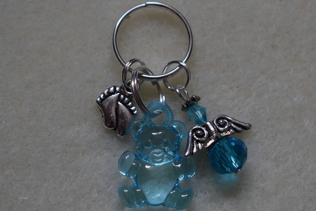 Memory Miscarriage Keyring Charm Angel Blue